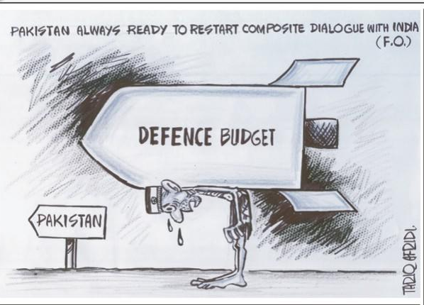 pakistan indian defence budget